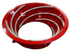 REMAN 87382439, 87382439: Remanufactured heavy-duty Case IH transition cone.AR400 steel-lined, new vanes, complete & ready to bolt in.