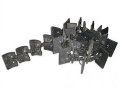 """AH162441, AH132806, AH149320: Clean grain elevator chain for John Deere CTS, 9400 & 9500 combines. 144 links.  6"""" wide x4-3/8"""" highpaddlesevery 4th link."""