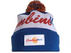 Warm and stylish Combine World retro vintage-style 100% acrylic toques for sale, with a colourful pom-pom.