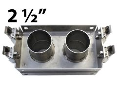 """New Romafa stainless steel 2.5"""" reversible coupling kit for sale at Combine World in Saskatoon, SK and Brandon, MB. Fits John Deere 1900 / 1910 air carts. For larger seed-size crops (peas, beans, chickpeas)."""