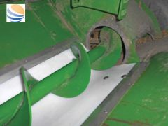 """White poly universal grain tank auger trough liner kit for sale at Combine World. Fits all combines. 10' long x 16"""" wide. Comes with hardware."""