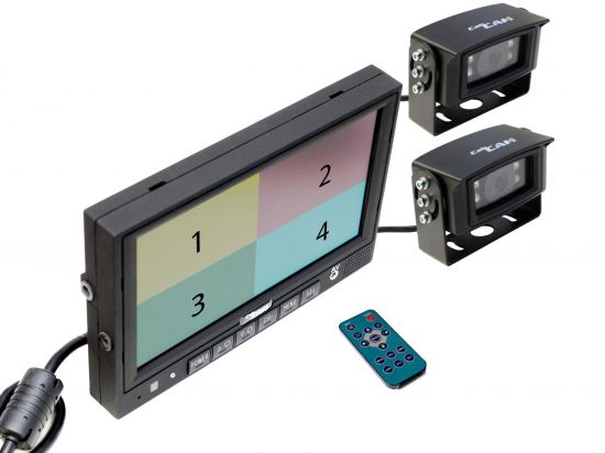 CabCAM Quad Monitor Kit