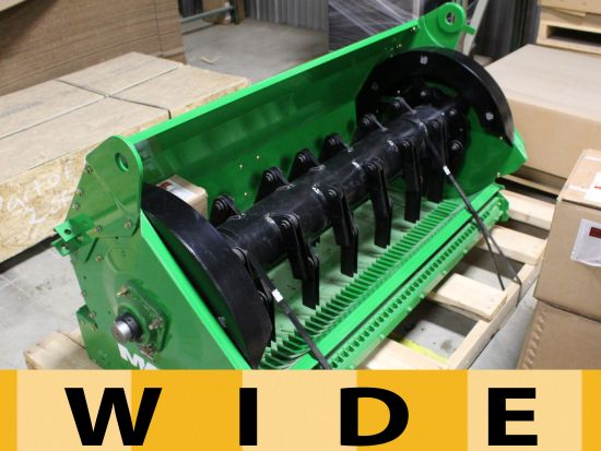 New wide spread Redekop MAV straw chopper for JD 9770/9870 STS for sale at Combine World. Wider spread, better blades, finer cut, breakaway knife bar, easy install. Part # 340-080W. We ship anywhere.