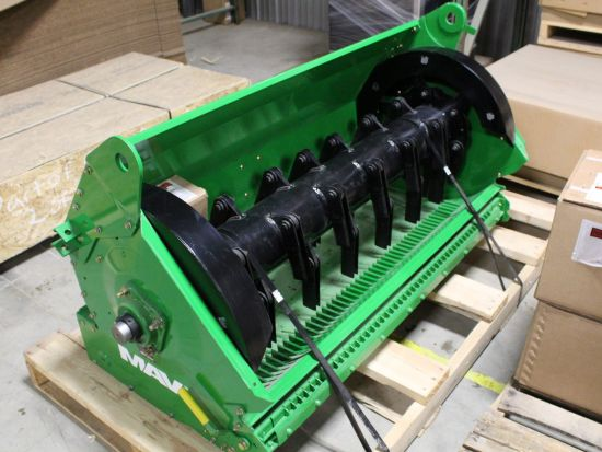 New Redekop MAV straw chopper for JD 9770/9870 STS for sale at Combine World. Wider spread, better blades, finer cut, breakaway knife bar, easy install. Part # 340-080. We ship anywhere.