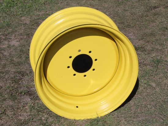 16.9 x 26 rims for sale at Combine World, to fit John Deere JD STS combines.  8 bolt hub.